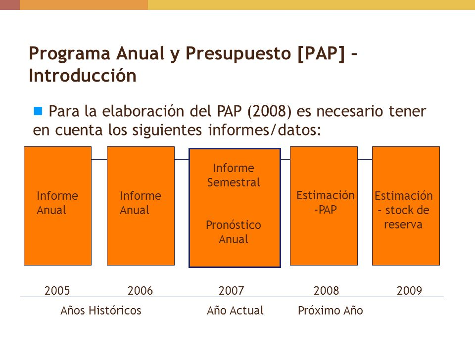 Programa Anual y Presupuesto [PAP] – Introducción